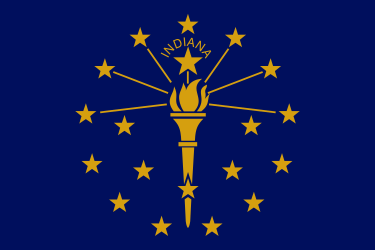 Indiana's State Flag Image