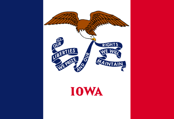 Iowa's State Flag Image