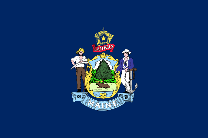 Maine's State Flag Image