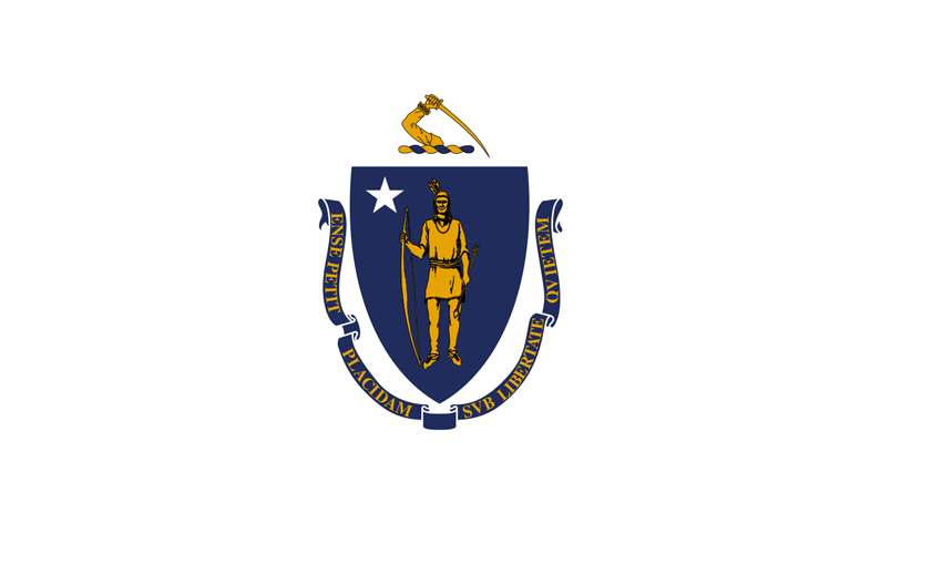 Massachusetts's State Flag Image