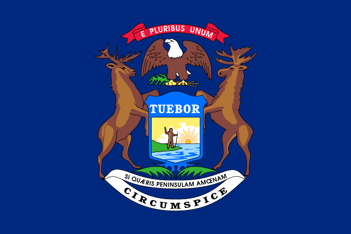 Michigan's State Flag Image