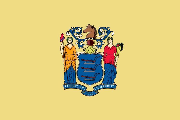 New Jersey's State Flag Image