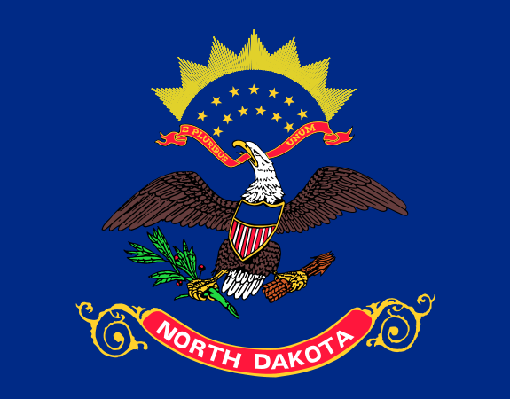 North Dakota's State Flag Image
