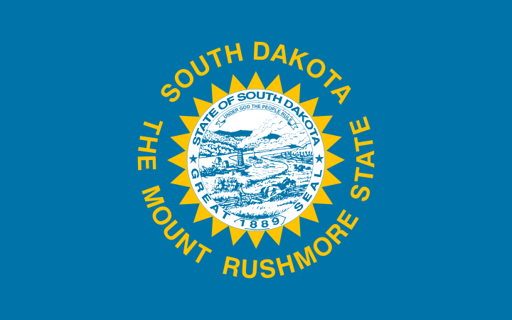 South Dakota's State Flag Image