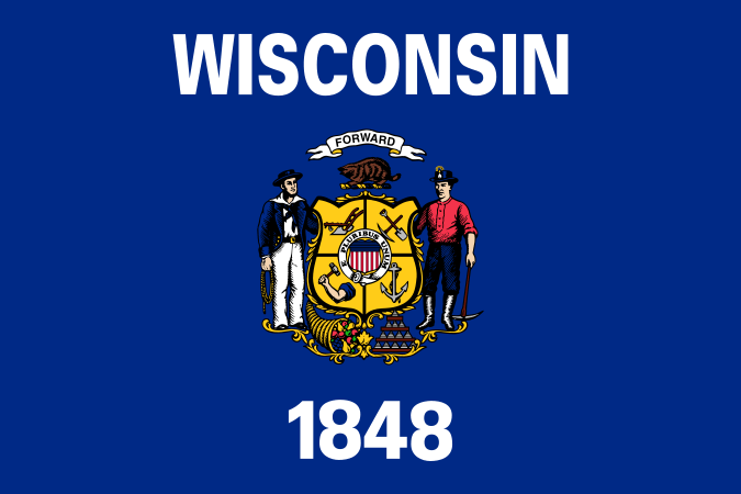 Wisconsin's State Flag Image