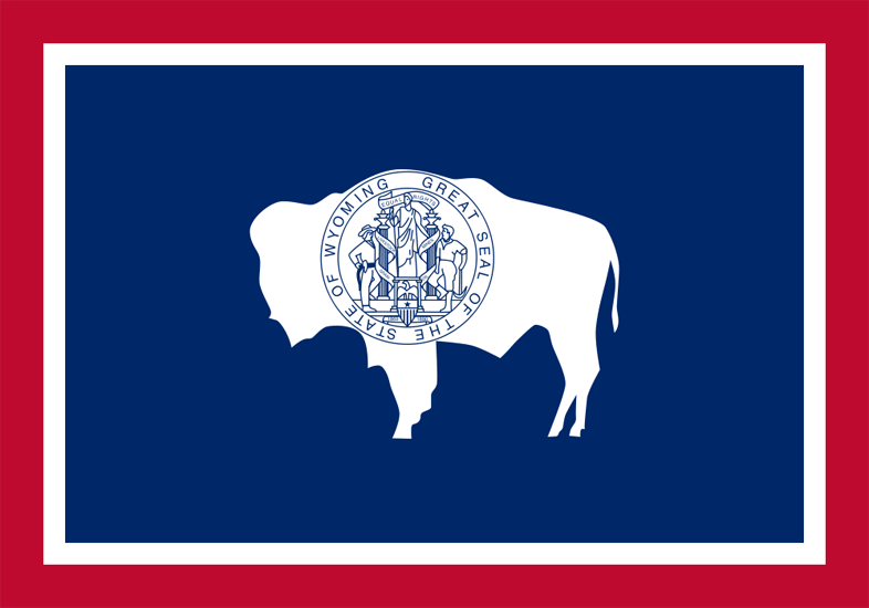 Wyoming's State Flag Image