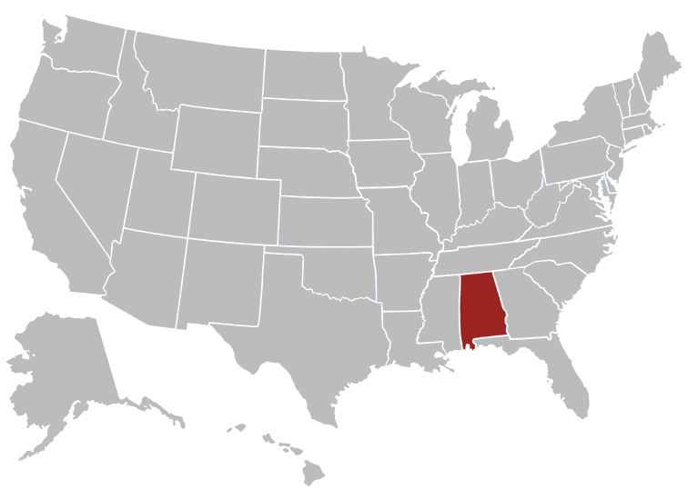 Alabama Map Image