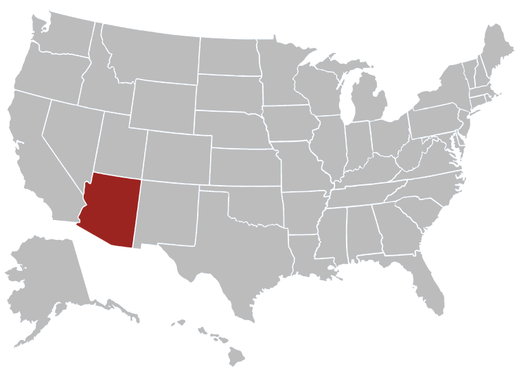 Arizona Position in Map