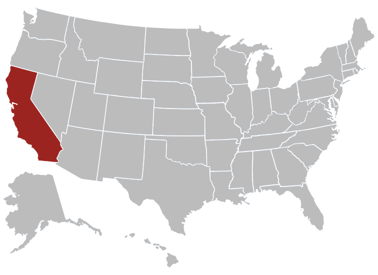 California Position in Map