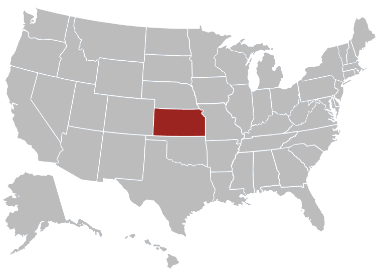 Kansas Position in Map