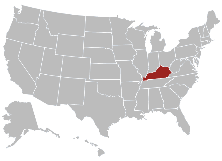 Kentucky Position in Map