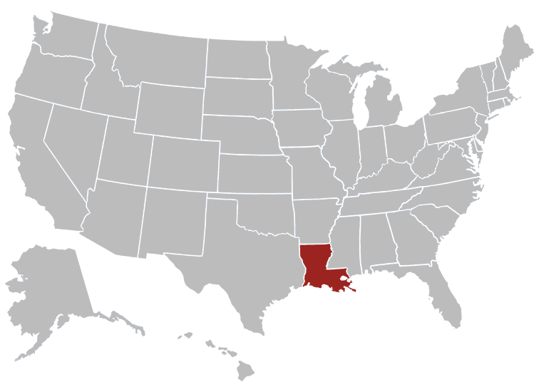 Louisiana Position in Map