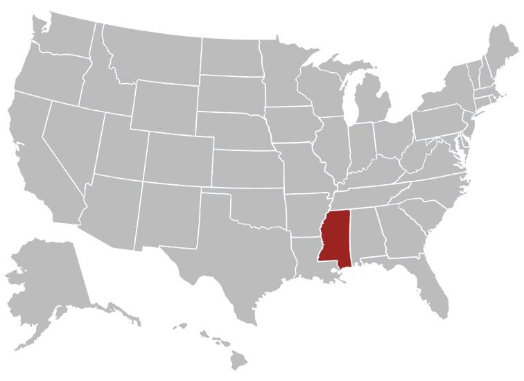 Mississippi Map Image