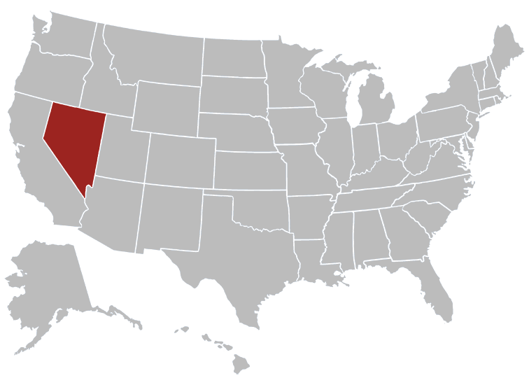 Nevada Position in Map