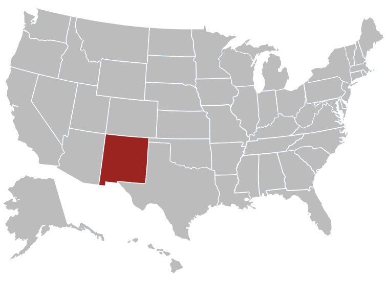 New Mexico Position in Map