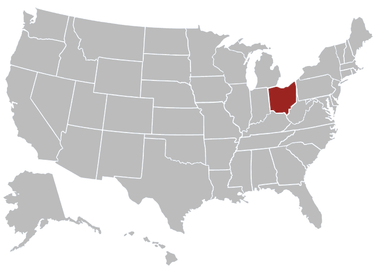 Ohio Position in Map