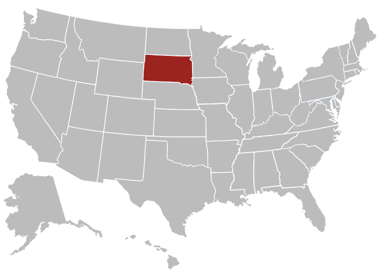 South Dakota Map Image