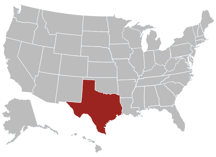 Texas Position in Map