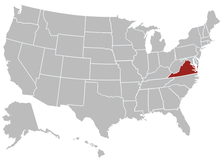 Virginia Position in Map