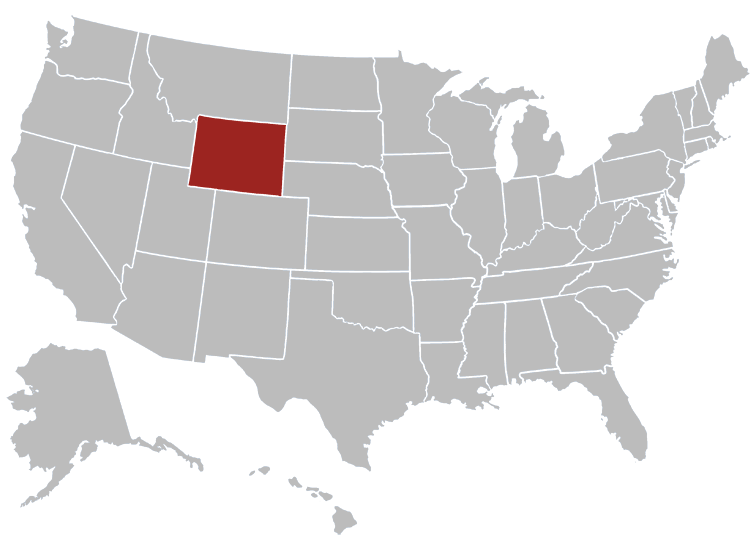 Wyoming Position in Map